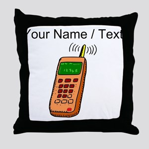 Custom Cartoon Cell Phone Throw Pillow