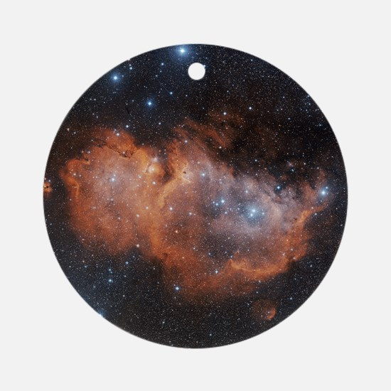Emission nebula IC 1848 Round Ornament