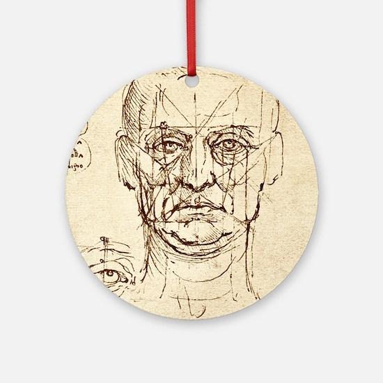 Facial anatomy Round Ornament