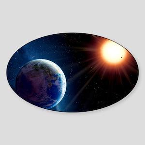 Extrasolar planet Gliese 581c, artw Sticker (Oval)