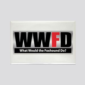 WW the Foxhound D Rectangle Magnet