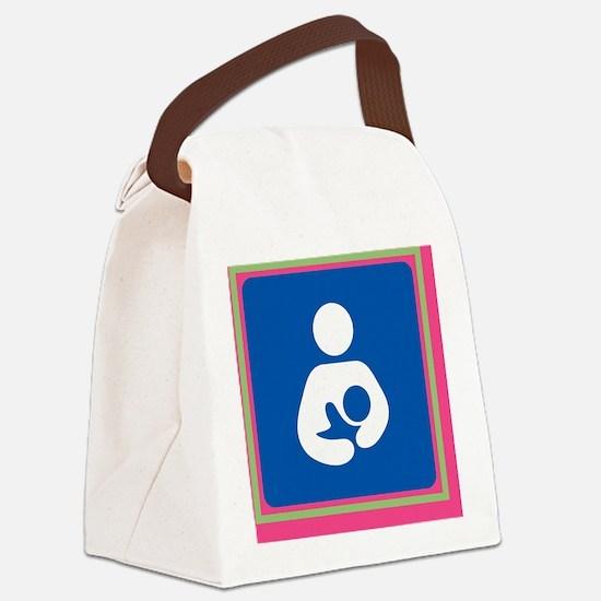 Breastfeeding Symbol on Pink Canvas Lunch Bag