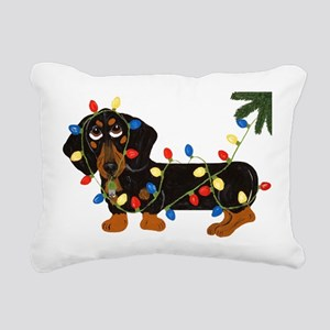 Dachshund (blk/tan) Rectangular Canvas Pillow