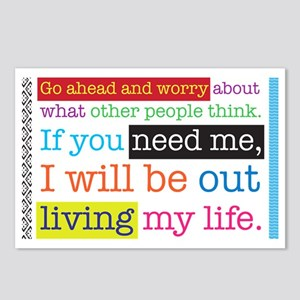Live My Life Postcards (Package of 8)