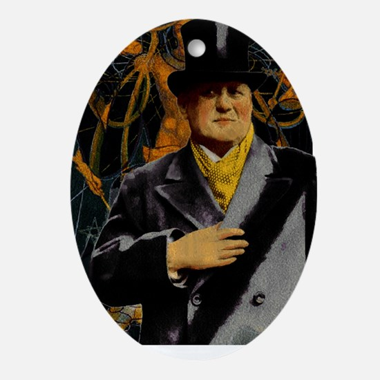 Aleister Crowley Oval Ornament
