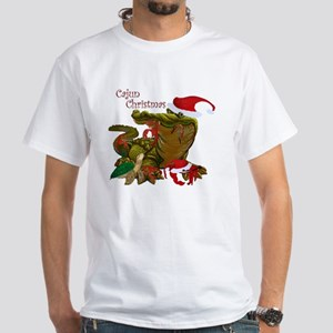 Cajun Christmas White T-Shirt