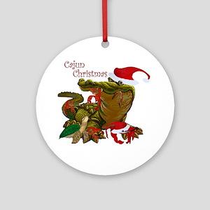 Cajun Christmas Round Ornament