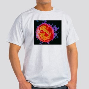 False-col TEM of a lymphocyte Light T-Shirt