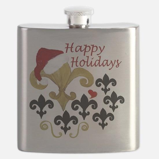 Santa Fleur de lis party Flask
