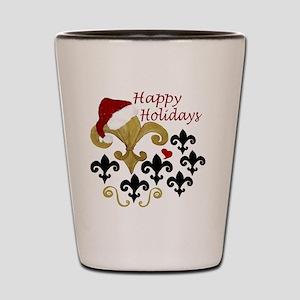 Santa Fleur de lis party Shot Glass