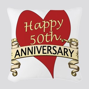 50th. anniversary Woven Throw Pillow