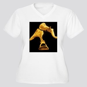 False-colour SEM  Women's Plus Size V-Neck T-Shirt