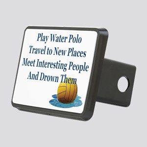 Play Water Polo Drown Em B Rectangular Hitch Cover