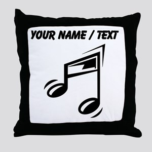 Custom Eighth Note Throw Pillow