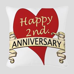 2nd. anniversary Woven Throw Pillow
