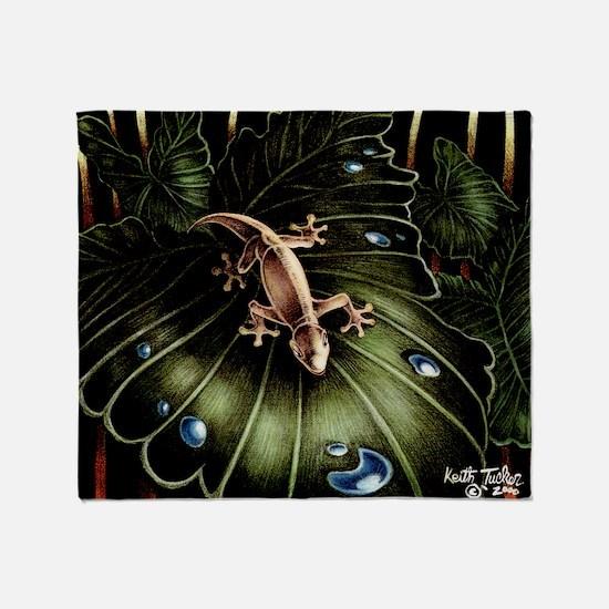 Thirsty Hawaiian Gecko Throw Blanket