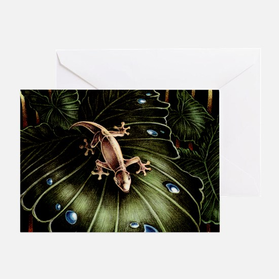 Thirsty Hawaiian Gecko Greeting Card