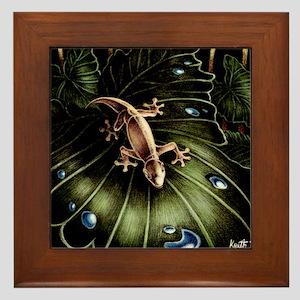 Thirsty Hawaiian Gecko Framed Tile