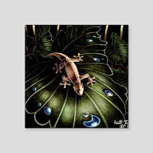 "Thirsty Hawaiian Gecko Square Sticker 3"" x 3"""
