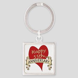 55th. anniversary Square Keychain