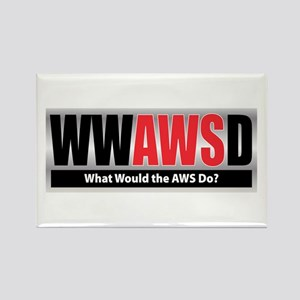 WW the AWS D Rectangle Magnet