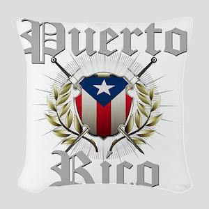 puerto rico a Woven Throw Pillow