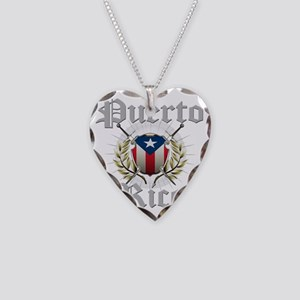 puerto rico a Necklace Heart Charm