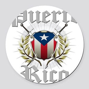 puerto rico a Round Car Magnet