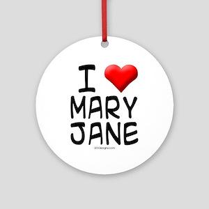 I Love MJ Ornament (Round)