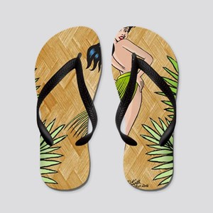 88e14874de33f Island girl in a grass skirt Flip Flops