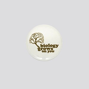 biology grows on you Mini Button