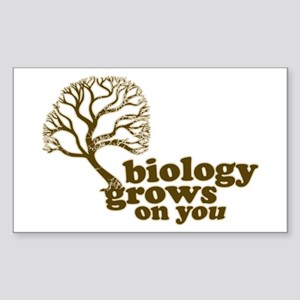 biology grows on you Rectangle Sticker
