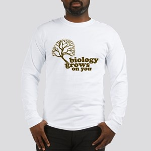 biology grows on you Long Sleeve T-Shirt