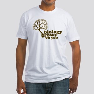 biology grows on you Fitted T-Shirt