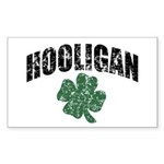 Hooligan Distressed Rectangle Sticker