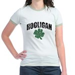 Hooligan Distressed Jr. Ringer T-Shirt
