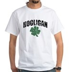 Hooligan Distressed White T-Shirt