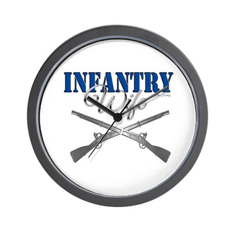 Infantry Wife Symbol Wall Clock