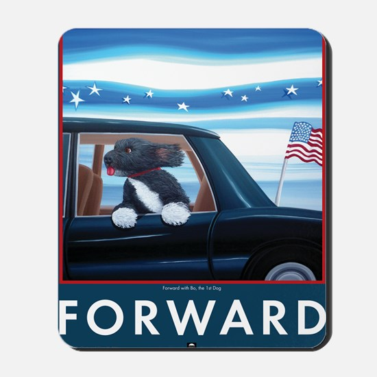 Forward with Bo, the 1st Dog Mousepad