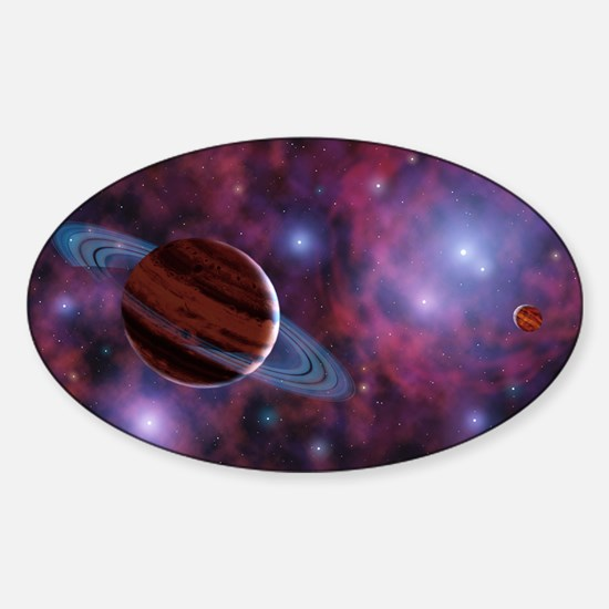 Free-floating planets Sticker (Oval)