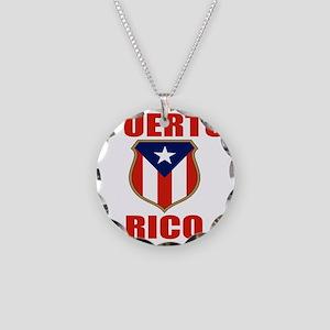 puerto rico (lk) Necklace Circle Charm