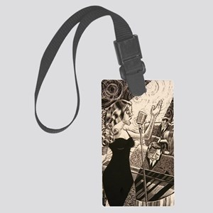 Jazz Singer Large Luggage Tag