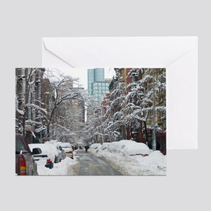 7th street snow scene Greeting Card