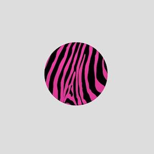 Hot Pink Zebra Stripe Mini Button