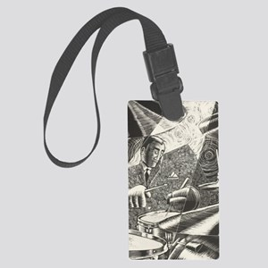 Jazz Drummer Large Luggage Tag