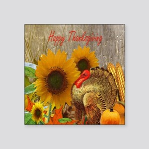 """Thanksgiving Holiday Square Sticker 3"""" x 3"""""""
