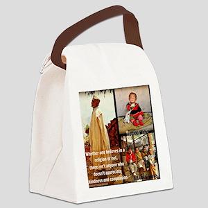Kindness and Compassion: Dalai La Canvas Lunch Bag