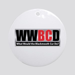 WW the Blackmouth Cur D Ornament (Round)