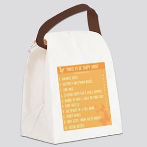 Things to be Happy About Canvas Lunch Bag