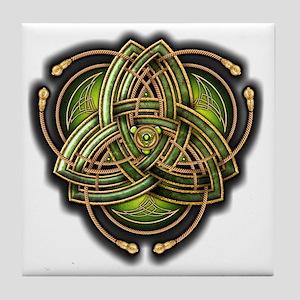 Green Celtic Triquetra Tile Coaster